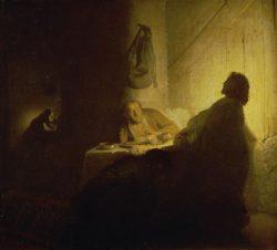 """Rembrandt """"Christus-in-Emmaus"""" 39 x 42 cm"""