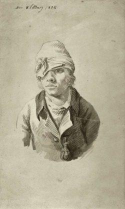 """Caspar David Friedrich """"Selbstbildnis mit Mütze""""  107 x 175 cm"""