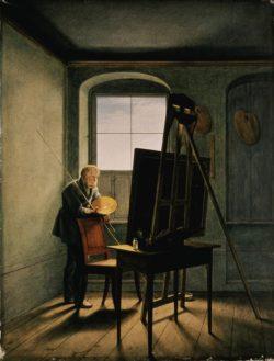"Caspar David Friedrich ""Caspar David Friedrich in seinem Atelier""  40 x 51 cm"