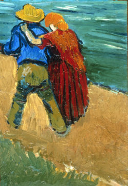 "Vincent van Gogh ""Liebespaar in Arles"" (Fragment), 32,5 x 23 cm"