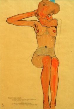 "Egon Schiele ""Mädchenakt"" 32 x 45 cm"