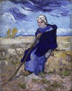 """Vincent van Gogh """"Die Schaeferin"""" (nach Millet), 52,7 x 40,7 cm"""