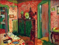 "Wassily Kandinsky ""Interieur Mein Eßzimmer"" 64 x 50 cm"
