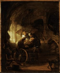 """Rembrandt """"Der-junge-Tobias-heilt-seinen-blinden-Vater"""" 47.2 x 38.8 cm"""