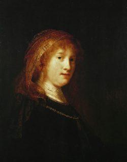 """Rembrandt """"Saskia-mit-Schleier"""" 59 x 45 cm"""