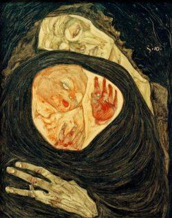 """Egon Schiele """"Tote Mutter 1"""" 26 x 32 cm"""