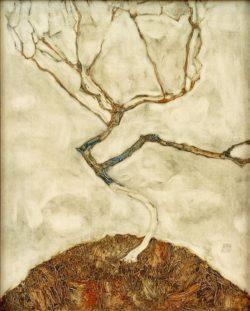 """Egon Schiele """"Kleiner Baum im Spätherbst"""" 34 x 42 cm"""