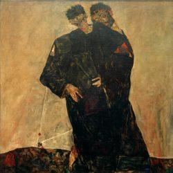 """Egon Schiele """"Die Eremiten"""" 181 x 181 cm"""