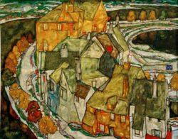 """Egon Schiele """"Der Häuserbogen"""" 141 x 110 cm"""