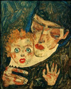 """Egon Schiele """"Mutter und Kind"""" 29 x 37 cm"""