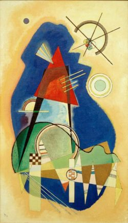 "Wassily Kandinsky ""Diskretes Blau"" 35 x 60 cm"