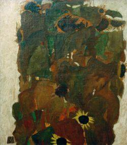 "Egon Schiele ""Sonnenblumen 1"" 81 x 90 cm"