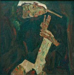 """Egon Schiele """"Der Lyriker"""" 80 x 80 cm"""