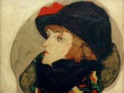 "Egon Schiele ""Bildnis Ida Roessler"" 39 x 32 cm"