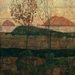 "Egon Schiele ""Versinkende Sonne"" 90 x 90 cm"