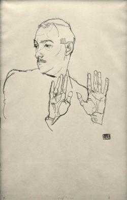 "Egon Schiele ""Arthur Roessler"" 31 x 49 cm"