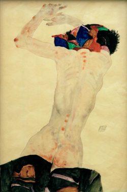 """Egon Schiele """"Rückenakt"""" 32 x 48 cm"""