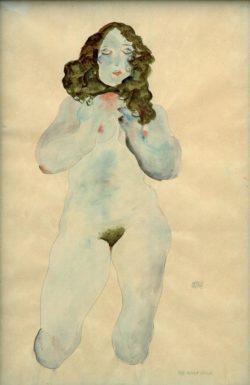 """Egon Schiele """"Weiblicher Akt"""" 32 x 48 cm"""