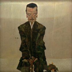 "Egon Schiele ""Bildnis Eduard Kosmack"" 100 x 100 cm"