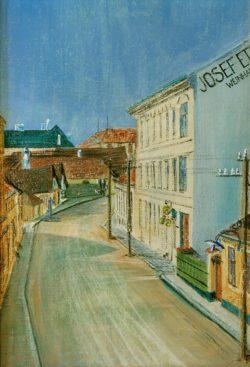 """Egon Schiele """"Die Albrechtstraße"""" 20 x 30 cm"""
