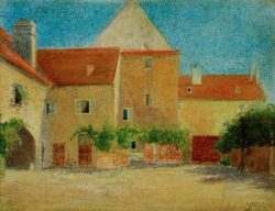 """Egon Schiele """"Schmiedehof"""" 48 x 37 cm"""