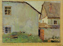 """Egon Schiele """"Bauernhäuser"""" 31 x 24 cm"""