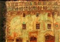 """Egon Schiele """"Krumauer Rathaus Teilansicht 1"""" 45 x 32 cm"""