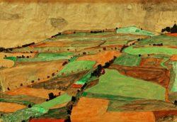 """Egon Schiele """"Felderlandschaft"""" 45 x 31 cm"""