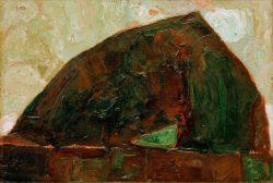 "Egon Schiele ""Berg am Fluß"" 44 x 30 cm"