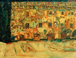 "Egon Schiele ""Das Krumauer Rathaus 2"" 37 x 29 cm"