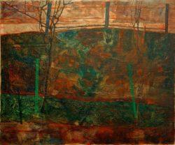 "Egon Schiele ""Landschaft mit rotem Himmel"" 83 x 70 cm"
