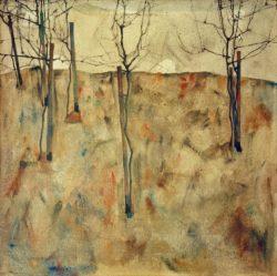 """Egon Schiele """"Kahle Bäume"""" 81 x 80 cm"""