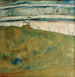 "Egon Schiele ""Kalvarienberg"" 80 x 82 cm"