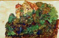 "Egon Schiele ""DeuringSchlößchen"" 48 x 32 cm"