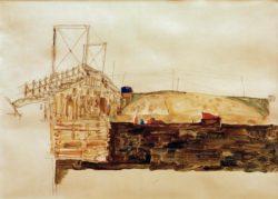 "Egon Schiele ""Die Brücke"" 43 x 31 cm"