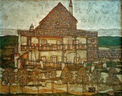 """Egon Schiele """"Haus mit Schindeldach"""" 140 x 110 cm"""