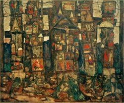 "Egon Schiele ""Waldandacht"" 120 x 100 cm"