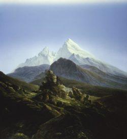 """Caspar David Friedrich """"Der Watzmann""""  170 x 133 cm"""