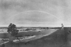 """Caspar David Friedrich """"Landschaft mit Regenbogen""""  84 x 59 cm"""