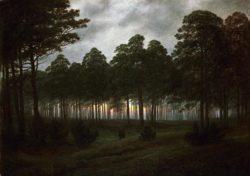 """Caspar David Friedrich """"Der Abend""""  31 x 22 cm"""