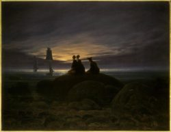 """Caspar David Friedrich """"Mondaufgang am Meer""""  71 x 55 cm"""