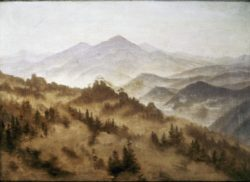 """Caspar David Friedrich """"Gebirgslandschaft""""  48 x 35 cm"""