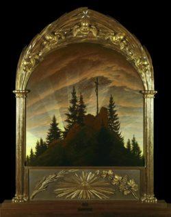 """Caspar David Friedrich """"Das Kreuz im Gebirge""""  110 x 115 cm"""
