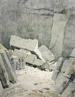 """Caspar David Friedrich """"Steinbruch""""  174 x 210 cm"""