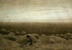 """Caspar David Friedrich """"Steiniger Strand mit Anker und Mondsichel""""  256 x 247 cm"""