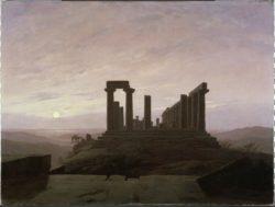 """Caspar David Friedrich """"Junotempel in Agrigent""""  72 x 54 cm"""