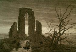 """Caspar David Friedrich """"Der Winter""""  27 x 19 cm"""