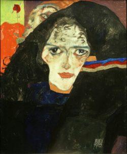 """Egon Schiele """"Trauernde Frau"""" 34 x 43 cm"""
