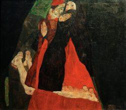 """Egon Schiele """"Kardinal und Nonne"""" 80 x 70 cm"""