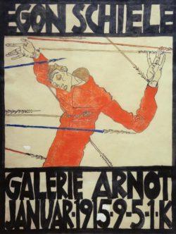 "Egon Schiele ""Selbstporträt als Heiliger Sebastian"" 50 x 67 cm"